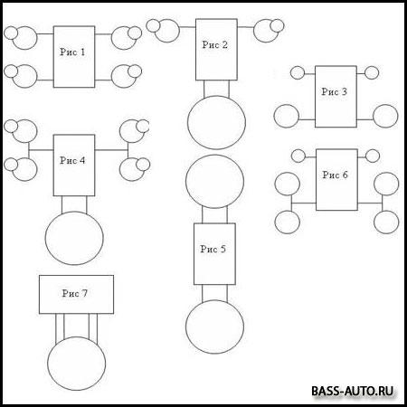 схема подключения колонок